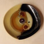 Loren Lukens Oblique Platter in Rust