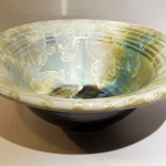 Bill Campbell's Crystalline Flambeaux Serving Bowl in Cream