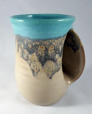 Handwarmer Mug Right in Island Oasis